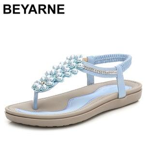 Image 1 - Beyarnesファッション女性ビーチサンダルビーズ女性teenslippers女性の夏の靴通気性の快適なsandalen