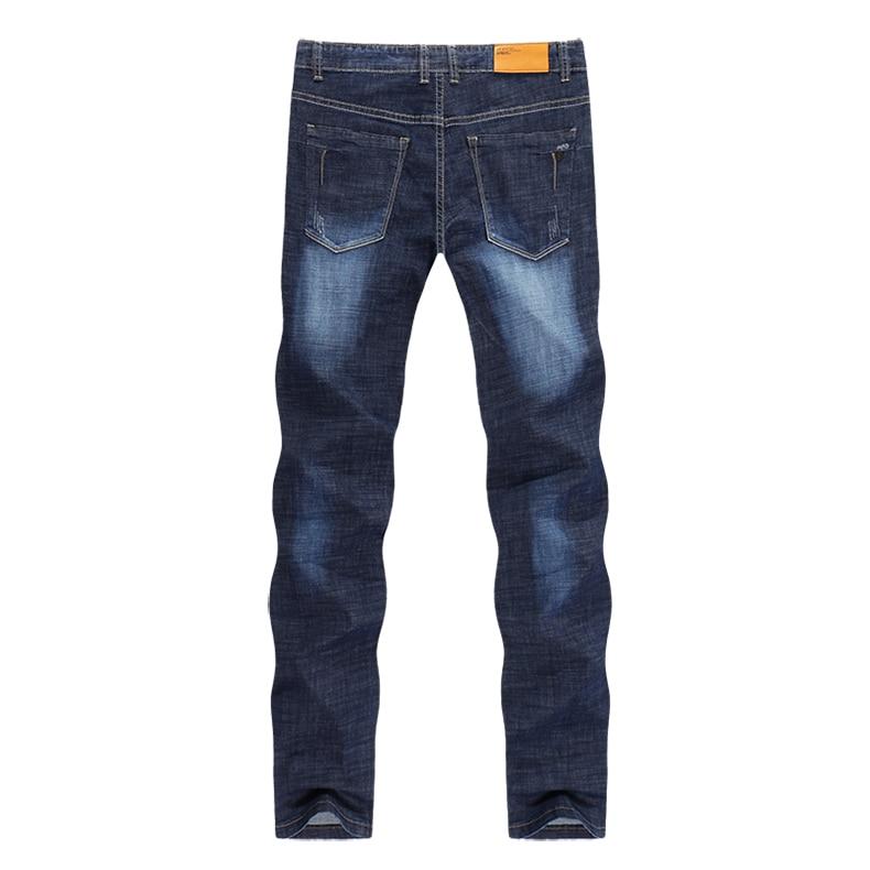 KSTUN Men Jeans Famous Brand 2019 Slim Straight Business Casual Dark Blue Thin Elasticity Cotton Denim Pants Trousers pantalon 12