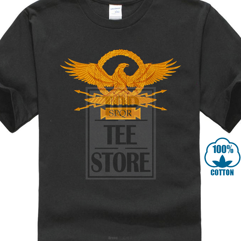 China Style Fashion Rock Roman Eagle T Shirt Roma Rom Kaiser Ceasar Emperor Spqr Empire Julius Insignia image