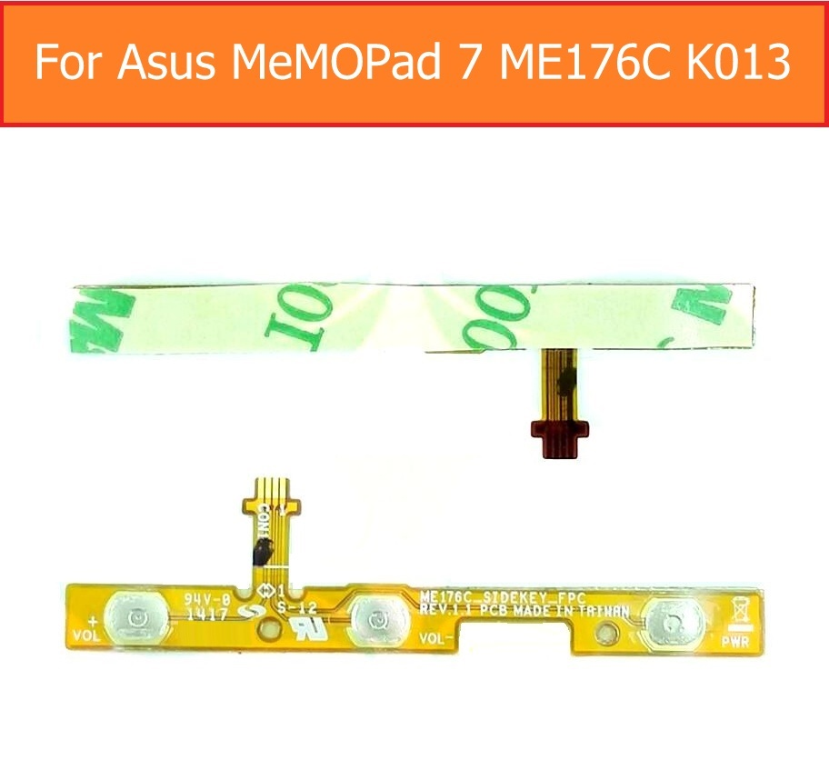 Switch On/off Control Power Flex Cable For ASUS MeMO Pad 7 K013 ME176C Up/low Volume Flex Cable Side Key Lock Screen Button Part