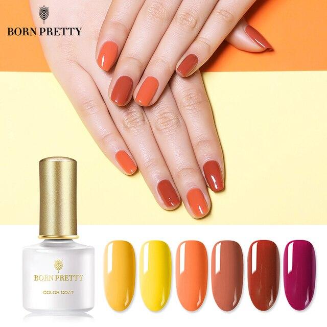 BORN PRETTY Тыква серия гель для ногтей 6 мл Желтый Оранжевый чистый цвет ногтей личная гигиена лак для осени