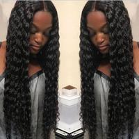 Sunnymay Lace Front Human Hair Wigs Deep Wave Brazilian Virgin Hair Front Lace Wigs For Black Women GLueless Cap
