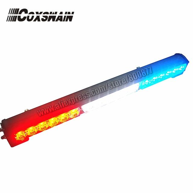 LED exterior light for car, Car LED stick lights, LED traffic advisor light,18pcs Gen3 1W LED, 5 flash pattern (SA-618-3)