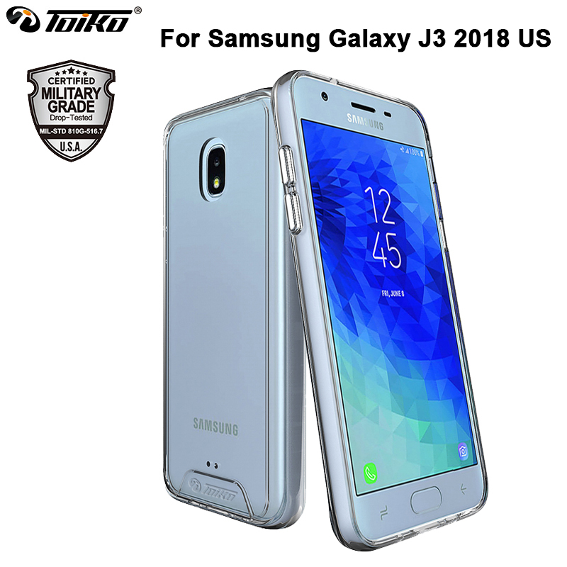 Galleria fotografica TOIKO Chiron Hybrid Clear Cases for Samsung Galaxy J3 2018 Hard PC Soft TPU Bumper Shell Shockproof Protection Back Phone Covers