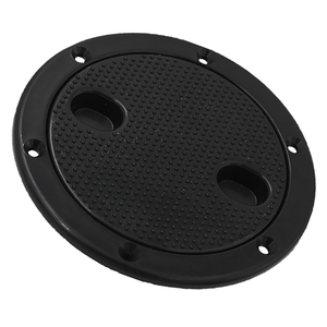 Image 5 - Marine Black Plastic Deck Plate 6 Waterproof Inspection Screw Type for Boat