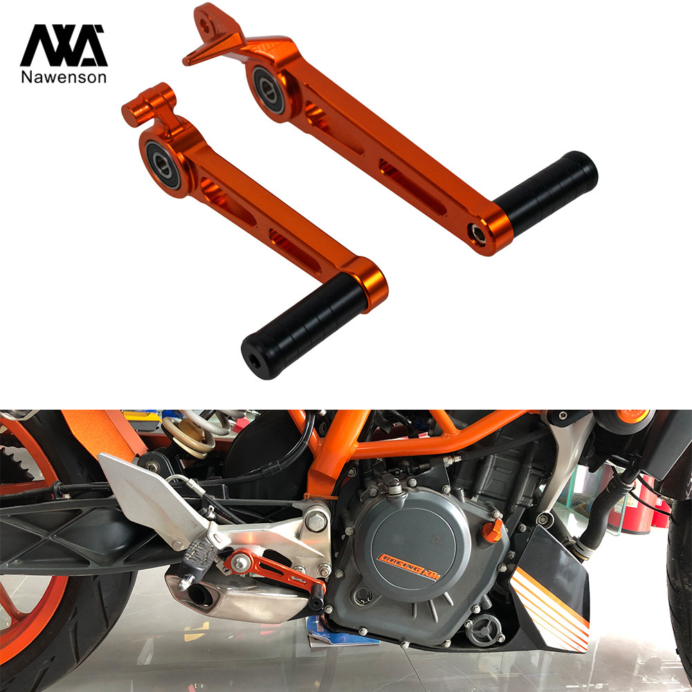 Orange Motorcycle Gear Shift Lever Rear Brake Pedal Set CNC Billet Foot Brake Lever For KTM Duke 390 2017 2018 2019