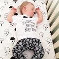 2016 Autumn Kid Baby Boy Clothing Set Fashion Cotton Short Sleeve Letter T-Shirt+ Skull Pants 2pcs Newborn Baby Boy Clothes Set
