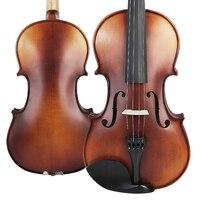 Snowpine Yüksek kalite Keman Topraklar Ladin üst sert yapılan Keman Rosin + bow + kılıf + strings Müzik aletleri ile toptan