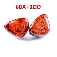 2016 New VT Shell Custom Made 6BA With 1 DD In Ear Earphone Hybrid Around Ear