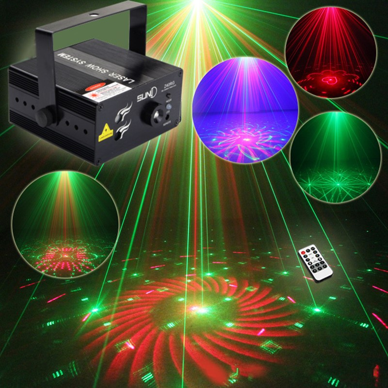 3 Hole Sound Control Green & Red LED Night Light Stage Lighting Effect Laser Beam Lamp DJ Disco KTV Bar Indoor Decor Lighting
