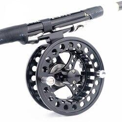 Fly Fishing Reel ze stopu 2 + 1BB łożyska kulkowe wędkarstwo kołowrotki 3/4/5/6/7/8 waga w prawo kołowrotek pesca Fishing cewki LUN005