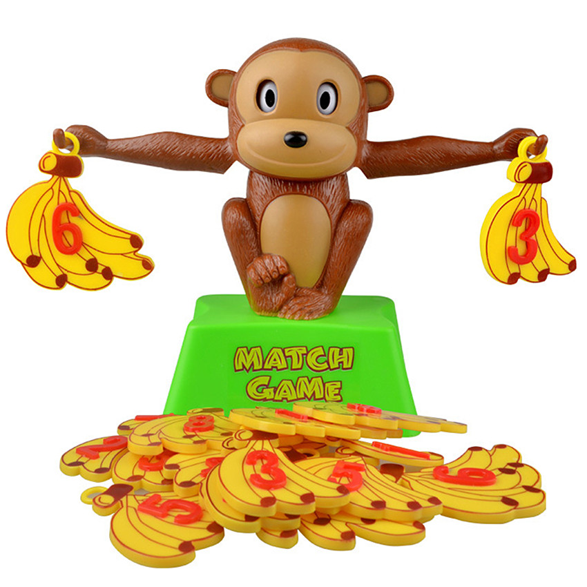 Monkey Match Math Balancing Scale Match Game Number Balance Game Board Game Educational Toy For Child To Learn Add And Subtract image