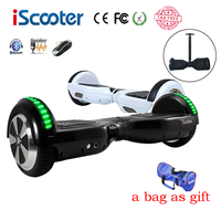 iScooter hoverboard BT Electric Skateboard steering wheel Smart 2 wheel self Balance Standing scooter hover board a bag as gift