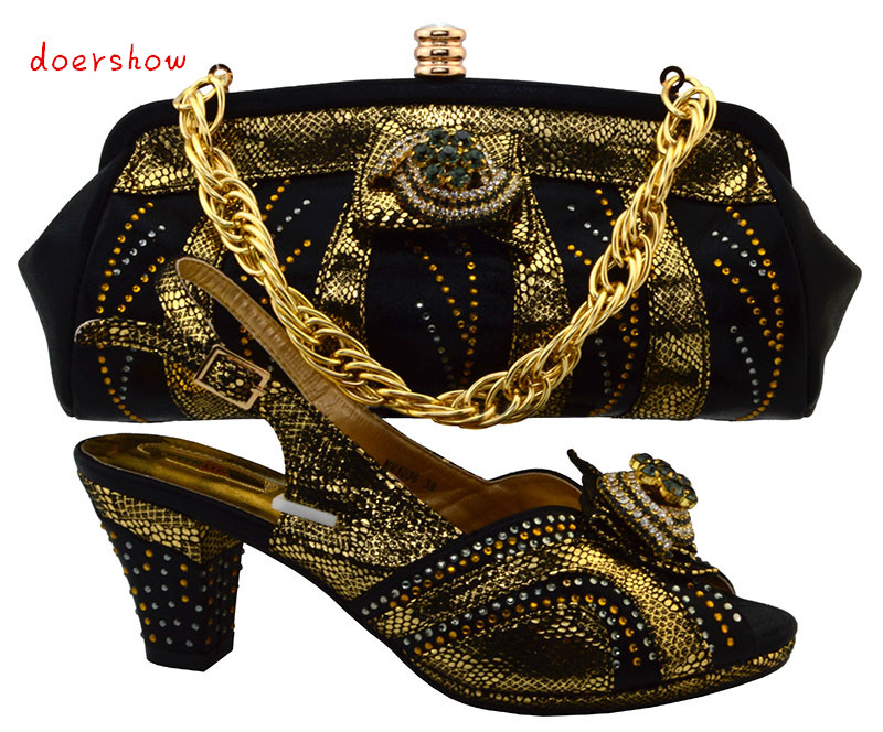 doershow My lady store Ialian women's shoes and bag set new design African shoes and bag set  evening shoes and bags   TMM1-36 managing the store