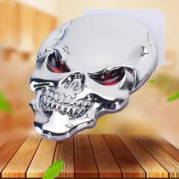 2018 New 3D Skull Sticker Metal Auto Emblem For BMW X1 X3 X5 X6 X4 E30 E34 E36 E38 E39 E46 E52 E53 E60 E90 M3 Car styling image