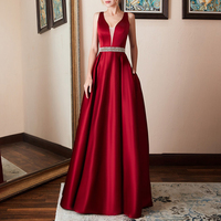 Sexy Women's Long Sleeveless Gown Sequins Dress Solid Cocktail Wedding Evening