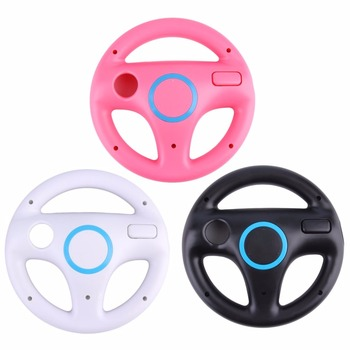 цена на 3 Color Plastic Innovative and ergonomlc design Game Racing Steering Wheel for Nintendo Wii for Mario Kart Remote Controller