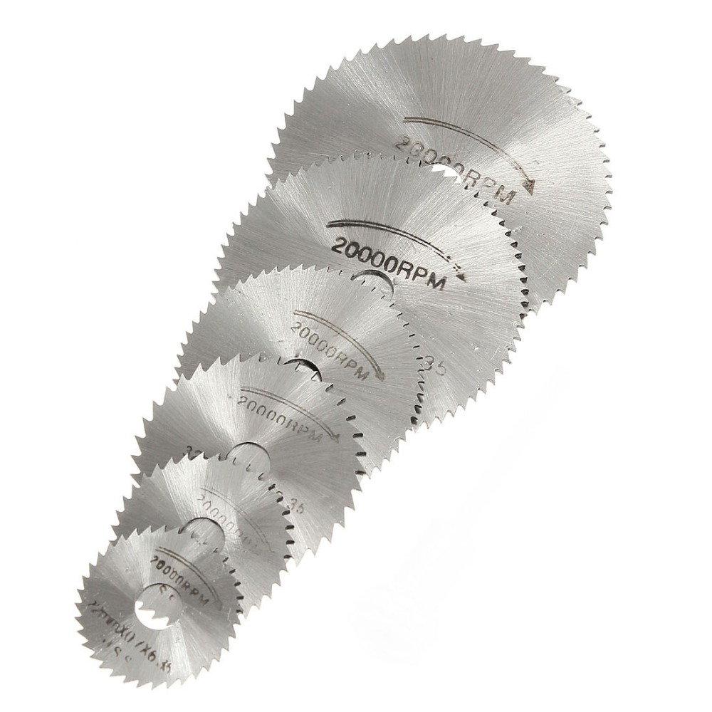 5 / 6pcs Lama per sega + 1 pz Mandrino HSS Utensile rotante - Lama per sega - Fotografia 6