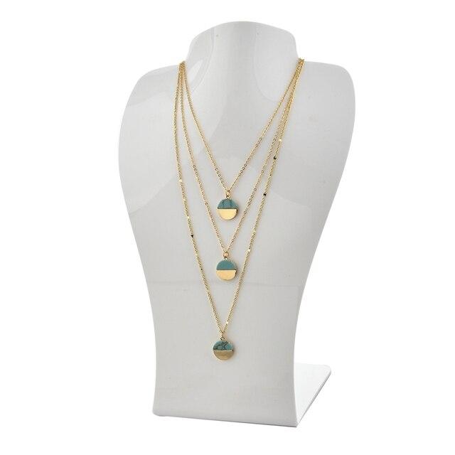Chicvie новое многослойное ожерелье ювелирные изделия Круглый