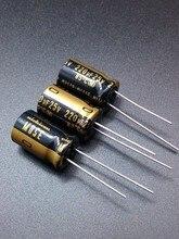 30 ШТ. Nichicon KZ 220 мкФ/25 В подлинное место 220 мкФ 25 В аудио импорт конденсатор бесплатно доставка