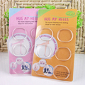 6pcs/Pack silica gel circle heel sticker shoes heel invisible foot  heel liner foot patch toe pads
