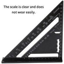 In Lega di alluminio Strumento di Misura 7 pollici Triangolo Righello per la Lavorazione Del Legno 90 gradi 45 gradi di Angolo Set Righello Quadrato Angolo di Goniometro