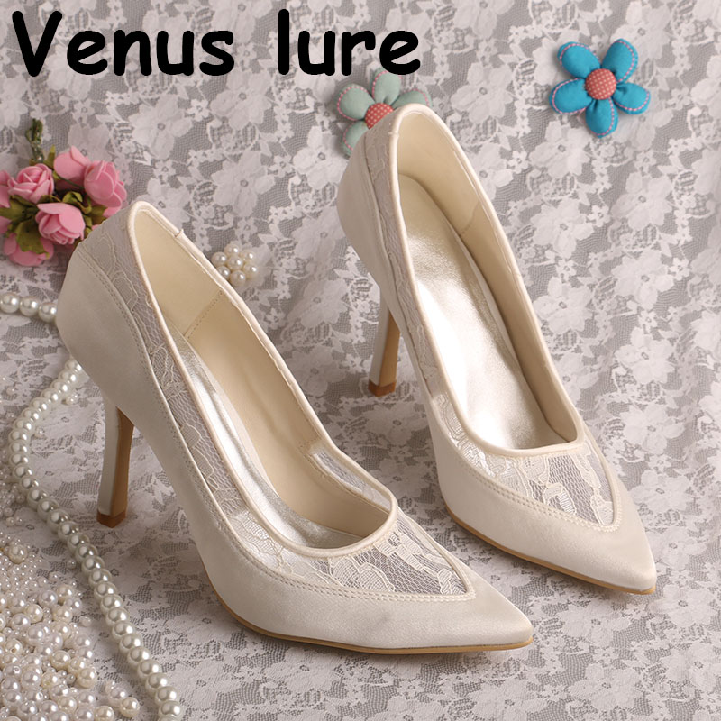 Detail Feedback Questions about Simple Design Pointed Toe Cream Bridal Shoes  High Heel Size 9 Handmade on Aliexpress.com  0782d86a6475