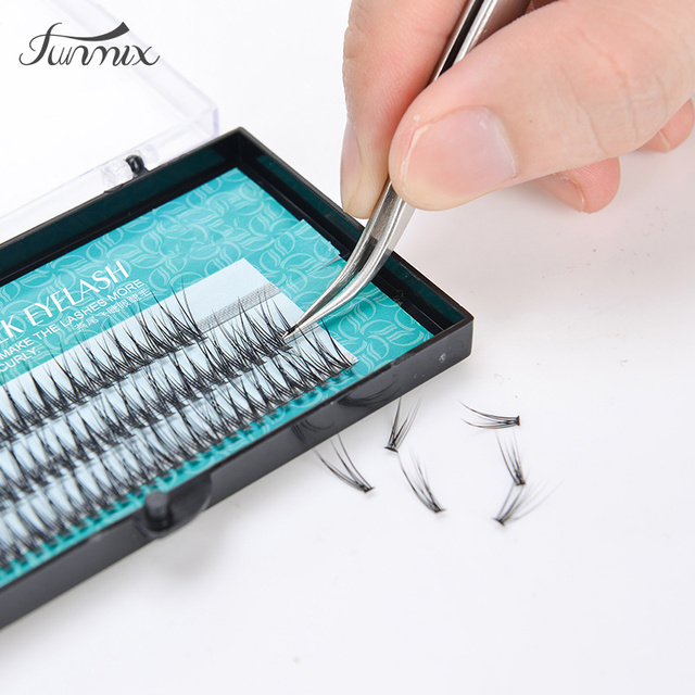2017 Popular natural fishtail  type Fashion dovetail fly eyelash soft mink eyelash extension tool fake eye lash