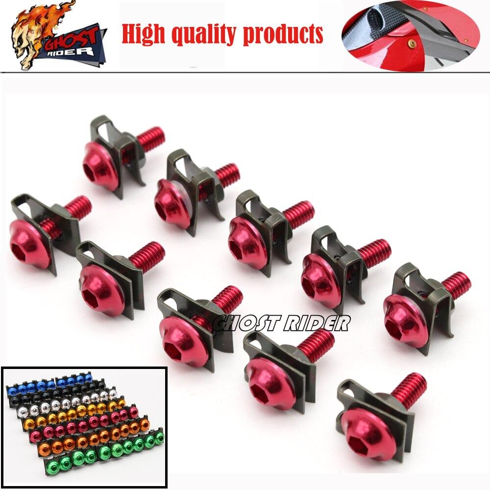 6mm Universal CNC Motorbike Accessories Fairing Body work Bolts Screws fits for CBR250R CBR300R CBR500R CBR600F CBR600RR