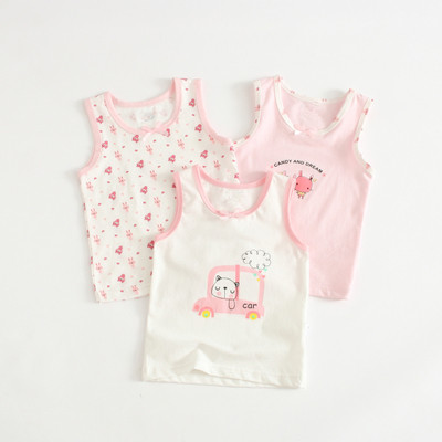 VIDMID Baby Girls tanks tops girls cotton Camisoles vests girls new candy color kids underwear Tanks Camisoles clothes 7068 01 6