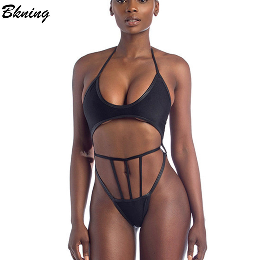 Bkning Thong One Piece Swimwear Women Swimsuit High Waist Swimming Suit For Women One Pieces Bodysuit Sexy Female Bathing Suit