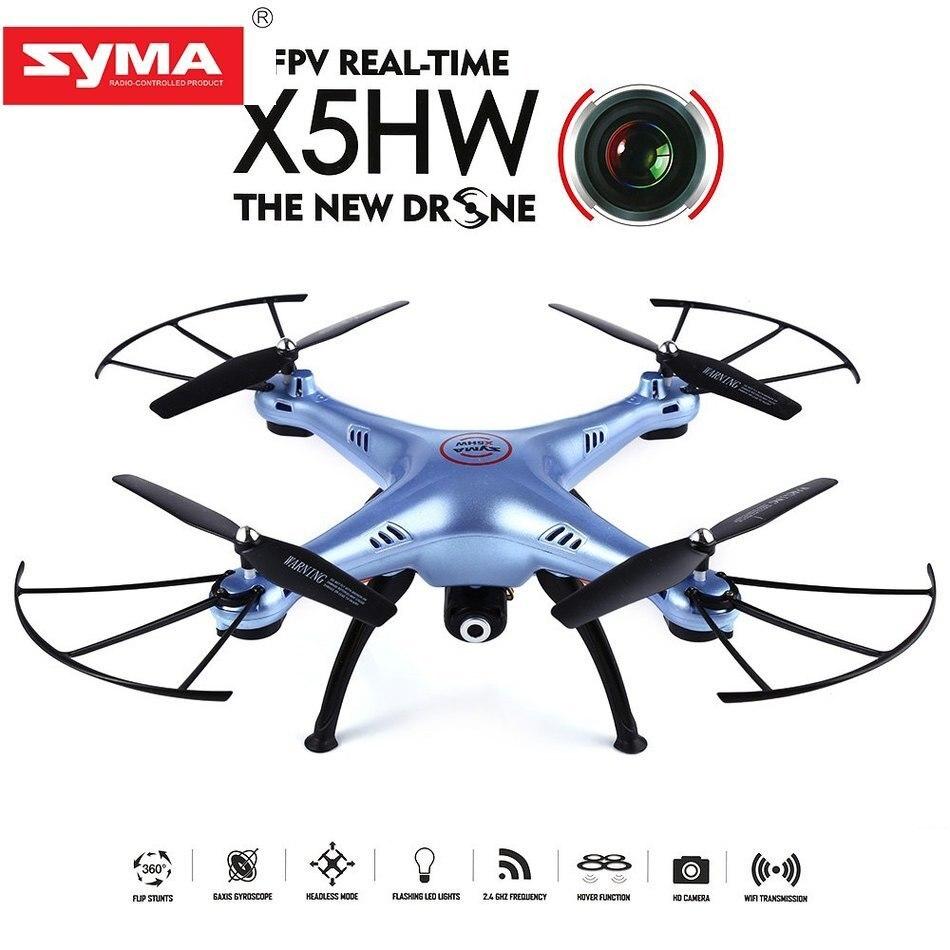 Nouveau boîtier d'origine Syma X5HW FPV RC quadrirotor Drone 2.4 GHz 6 axes FPV HD caméra 4CH Gyro RTF cadeau surprenant pour les enfants amis