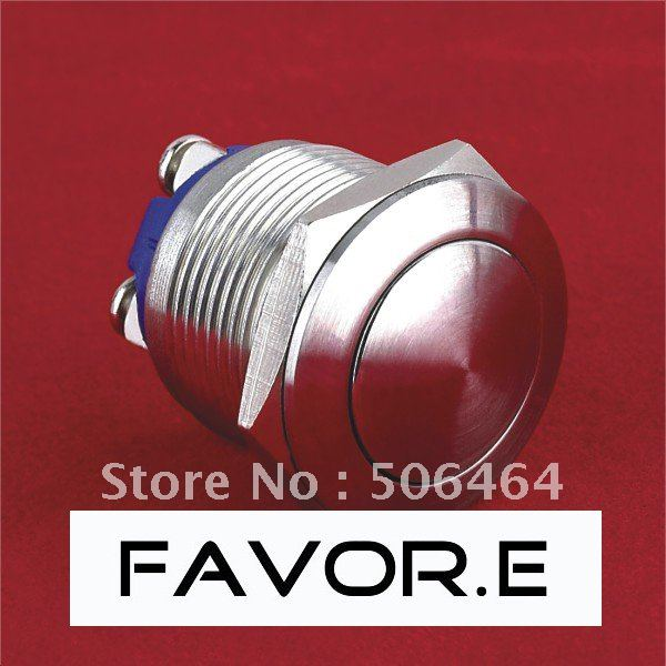 19mm IP65 Momentary Push Button Switch domed round screw terminal