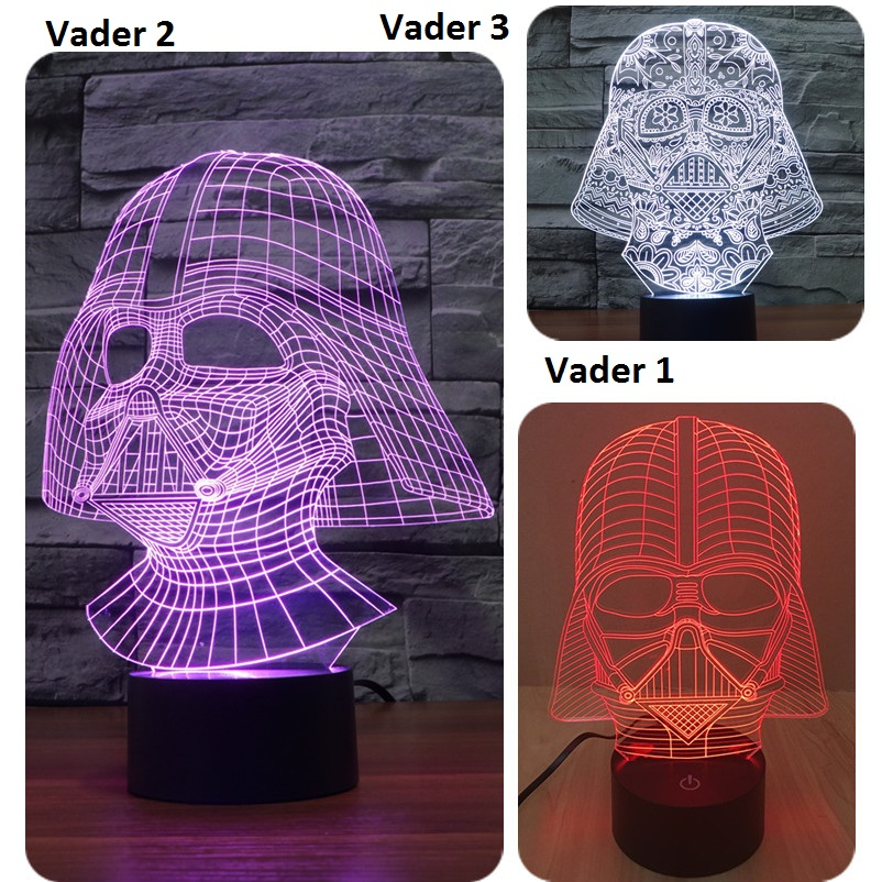 7 Color Led nightlight Lampada Darth Vader Star Wars 3D Tocco di Luce USB light Lampada Da Tavolo Camera Da Letto Decor IY803527 ...