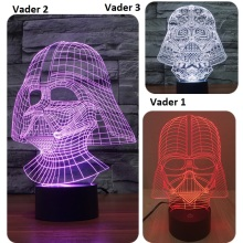 7 Color Led nightlight Lampada Darth Vader Star Wars 3D Tocco di Luce USB light Lampada Da Tavolo Camera Da Letto Decor IY803527