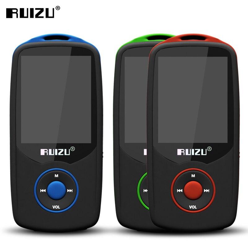 Original RUIZU X06 MP3 Player 4GB Bluetooth MP3 Player Hi-Fi Sound Music Player 1.8 inch Screen Support FM Radio Recorder Player ruizu x09 portable mp3 music player 4gb for running