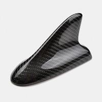 Universal Car Shark Fin Antenna Roof Shark Aerial Real Carbon Fiber Decorative Antennas Car Styling