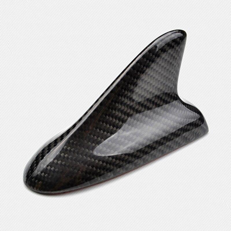 Universel voiture requin aileron antenne toit requin aérien réel Fiber de carbone antennes décoratives voiture style
