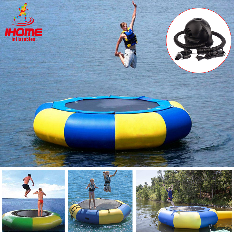IHOME Water Trampoline 3/4/5m Diameter PVC Inflatable Bouncer Inflatable Water Play Equipment Personal Customized Dropshipping