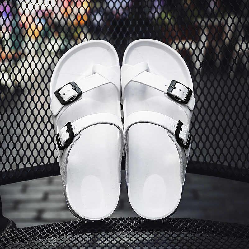 REETENE 2019 Men Sandals Flip Flop Slippers Soft Men Shoes Unisex Summer Slippers Outdoor Men Flat Shoes High Quality For Male