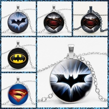 LETS SLIM Batman Superman Necklace Chain Miner Hero Glass Convex Necklace. Private Customized Pictures