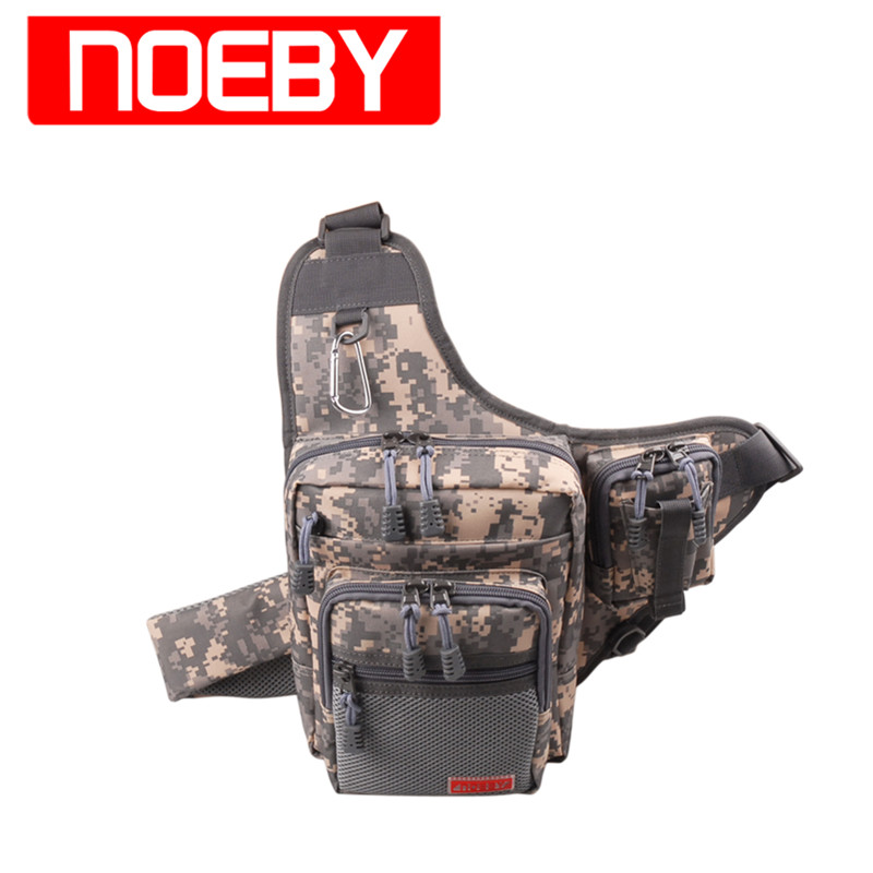 Ny NOEBY Fiskeveske 23x18x8cm Vanntett Outdoor Bagpack Multifunksjonell Waist Bag Bolsa Pesca Fishing Tackle Bag