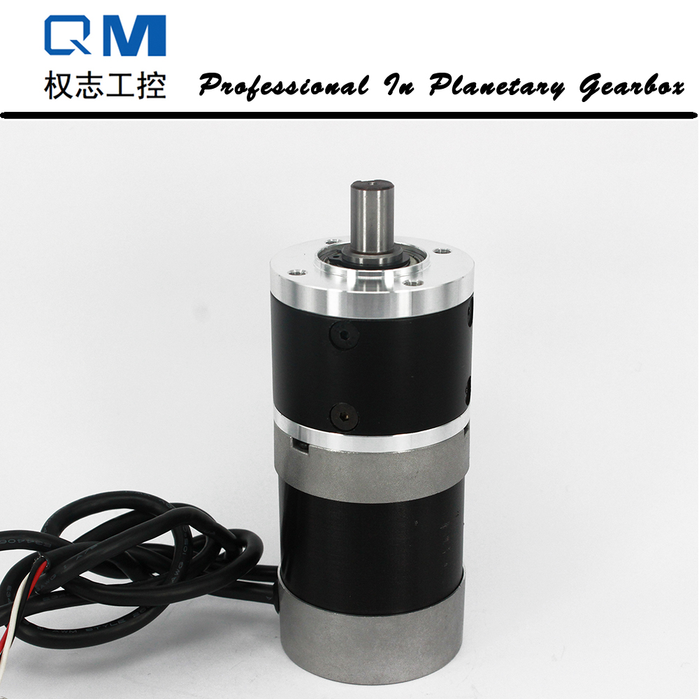 Gear dc motor planetary reduction gearbox ratio 10:1 nema 23 100W gear brushless dc motor 24V bldc motor high quality 5n m 42 42 119 7mm brushless dc motor with planetary gearbox reduction ratio 104 8