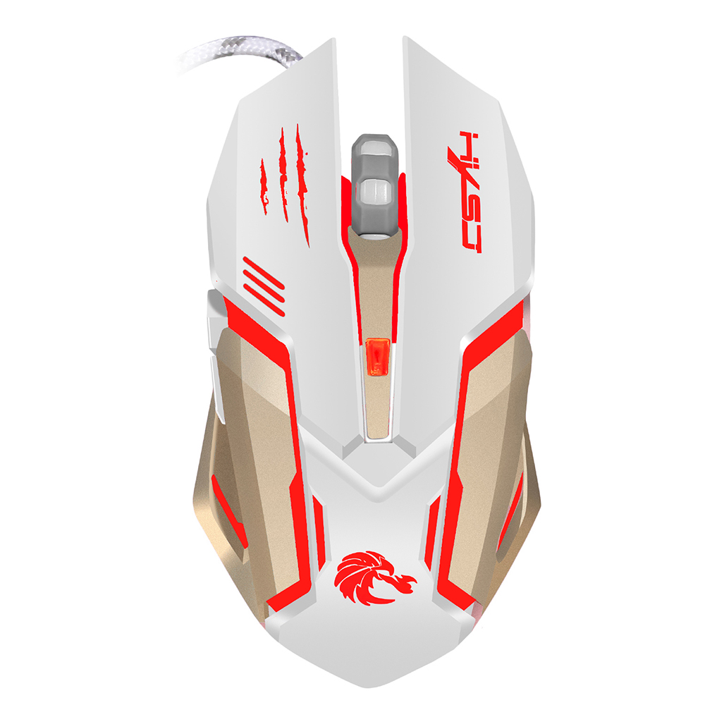 Image 2 - HXSJ Glowing Mouse USB Wired Professional Gaming Mouse Ergonomic Design Optical Mechanical Mouse Game with 7 Colors LED Backlit-in Mice from Computer & Office