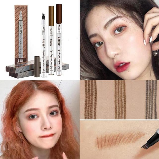 Microblading Eyebrow Tattoo Pen Waterproof Eye Makeup Easy Use Long Lasting Professional Eyebrow Pen Deep Color Pencil Eyebrow 4