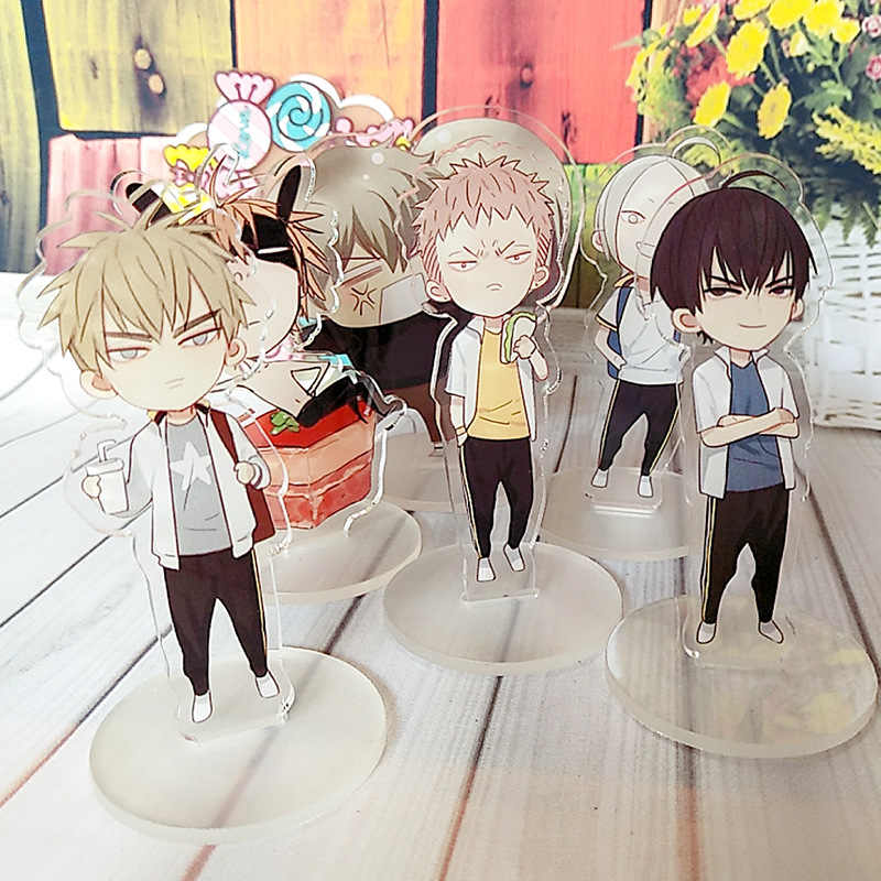 New 19 Days Mini Comic Characters Figurines Acrylic Ornaments Mo Guan Shan Anime Around Fans Gift