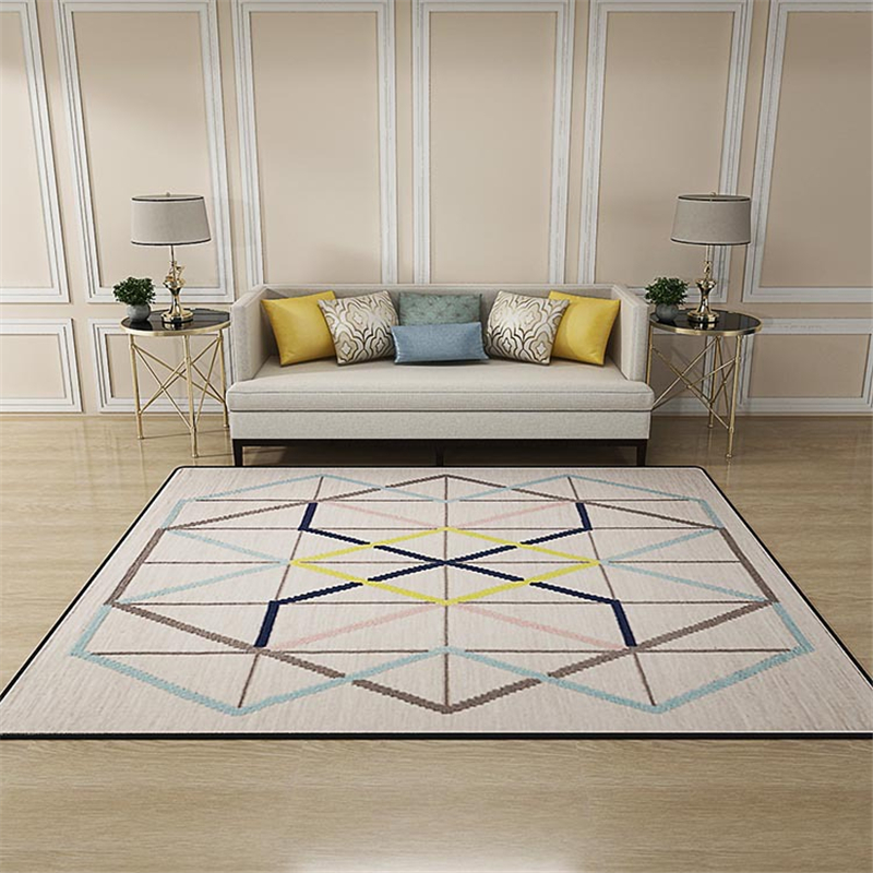 Nordic Carpets For Living Room Large Rectangle Geometric ...