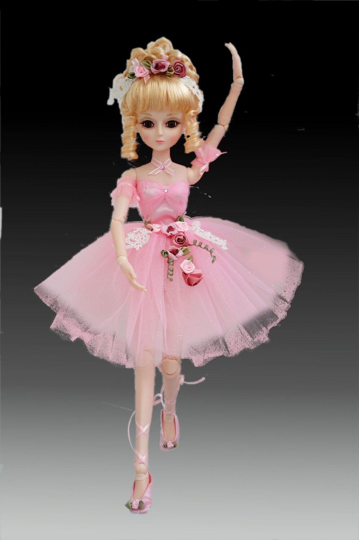 Cosette BJD Baletní panenky Vícebarevné pohyblivé klouby Domácí dekorace Herní hračka Horký výprodej s dárkovým balíčkem