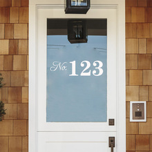 New Arrival Custom Number Doorplate Door Family Personalized Vinyl Sticker For Home Decor House Decoration Decals Modern