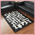 1.4x2.0 meters Hollway  cow leather carpets patchwork coffee table mats Christmas fashion